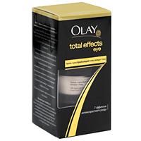 Olay Крем для глаз Total Effects, преображающий кожу, 15 млOL-81065597Крем Olay Total Effects, преображающий кожу вокруг глаз, поможет ощутить 7 эффектов антивозрастного ухода в 1 креме. Это инновационное средство против возрастных изменений, которое придает коже здоровое сияние, и со временем, борется не только с морщинами и морщинками, но и со всеми 7 признаками возрастных изменений кожи в области вокруг глаз. Преображает кожу вокруг глаз, уменьшает видимость темных кругов под глазами, стирая следы усталости стресса, интенсивно увлажняет сухую кожу, помогает устранять припухлости и мешки под глазами. Сыворотка, входящая в состав крема, способствует сокращению морщин, наполняет кожу жизненной энергией. Заметно разглаживает и выравнивает поверхность кожи. Без отдушек. Офтальмологически и дерматологически протестировано. Товар сертифицирован.