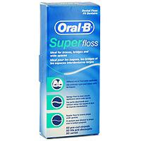 Зубная нить Oral-B Super Floss, 50 нитейSPF-13265223Зубная нить Oral-B Super Floss подходит для мостовидных протезов, брекет-систем, имплантантов и широких межзубных промежутков. Нить состоит из трех частей переходящих одна в другую: Первая часть - твердое волокно для введения под и между конструкциями; Вторая часть - широкое губчатое волокно для удаления налета и остатков пищи; Третья часть - обычная нить для чистки межзубных промежутков и вдоль линии десен. Характеристики: Количество нитей: 50 шт. Производитель: Ирландия. Артикул: 056Р9. Размер коробки: 5 см х 12 см х 2,5 см. Товар сертифицирован.