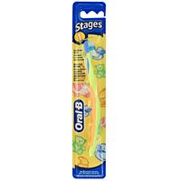 Oral-B Зубная щетка для младенцев Stages 1 мягкая цвет салатовый