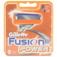 Gillette Сменные кассеты для бритья Fusion Power, 8 штGIL-75048875Gillette - лучше для мужчины нет! Технология 5-лезвийной бреющей поверхности: 5 лезвий PowerGlide, расположенных ближе друг к другу, позволяют снизить давление на кожу для уменьшения раздражения и большего комфорта чем у Mach3. Микроимпульсы снижают трение и обеспечивают более гладкое скольжение бритвы. 15 специальных микро гребней Fusion помогают разглаживать неровную поверхность кожи, позволяя 5 лезвиям скользить максимально гладко. Увлажняющая полоска теряет цвет, сигнализируя о необходимости сменить лезвие. При покупке упаковки сменных кассет Fusion или Fusion Power из 8 шт. вы экономите до 20% по сравнению с покупкой четырех упаковок из 2 шт. (на основании отпускной цены Procter&Gamble). - Технология из 5 лезвий обеспечивает меньшее давление на кожу по сравнению с бритвами Mach 3. - Улучшенная увлажняющая полоска обеспечивает еще более плавное скольжение картриджа по поверхности кожи по сравнению с бритвами Mach 3. - Лезвие-триммер...