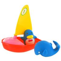 Набор для ванной Удивительная регата25087Набор для ванной Удивительная регата, изготовленный из прочного безопасного материала, состоит из яхты с крутящимя парусом, кита и пингвина. Игрушки порадуют малыша и превратят купание в удовольствие, а игра с ними поможет развить мелкую моторику рук, воображение и концентрацию внимания.
