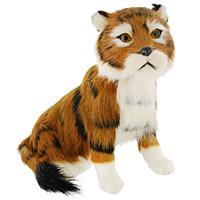 Тигр сидящий. T2020k-CT2020k-CТигр - самый крупный зверь из семейства кошачьих и один из крупнейших хищников. Сидящий тигр дополнит интерьер вашей комнаты и послужит отличным подарком. Пластиковая фигурка обтянута натуральным мехом. Мех обработан специальным раствором, который предотвращает появление в мехе моли и служит прекрасным антиаллергенным средством. Характеристики: Материал: пластик, мех козы. Высота: 18 см. Производитель: США. Артикул: T2020k-C.