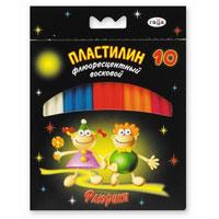 """Гамма Пластилин восковой """"Флюрики"""", 10 цветов"""