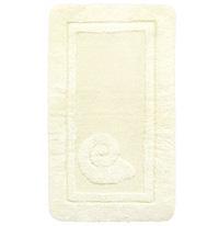 Коврик Escargot, цвет: белый, 70 x 120 см1041086Коврик Escargot, белого цвета выполнен из натурального хлопка. Материал из хлопка практически идеально впитывает влагу и быстро высыхает. Износостойкое волокно длительное время сохраняет первоначальный цвет и внешний вид. Прорезиненная основа коврика позволяет использовать его во влажных помещениях, предотвращает скольжение коврика по гладкой поверхности, а также обеспечивает надежную фиксацию ворса. Фабричная обработка кромки коврика увеличивает срок службы изделия и улучшает его внешний вид.