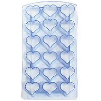 Форма для льда Сердце, цвет: голубой 18 ячеек