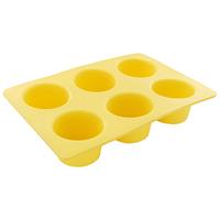 Форма для выпечки маффинов Tescoma Delicia Silicone, цвет: желтый, 6 ячеек629332Форма Tescoma Delicia Silicone будет отличным выбором для всех любителей выпечки. Благодаря тому, что форма изготовлена из силикона, готовую выпечку или мармелад вынимать легко и просто. Изделие выполнено в форме прямоугольника, внутри которого расположены 6 круглых ячеек. Форма прекрасно подойдет для выпечки маффинов. С такой формой вы всегда сможете порадовать своих близких оригинальной выпечкой. Материал изделия устойчив к фруктовым кислотам, может быть использован в духовках, микроволновых печах, холодильниках и морозильных камерах (выдерживает температуру от -40°C до 230°C). Антипригарные свойства материала позволяют готовить без использования масла. Можно мыть и сушить в посудомоечной машине. При работе с формой используйте кухонный инструмент из силикона - кисти, лопатки, скребки. Не ставьте форму на электрическую конфорку. Не разрезайте выпечку прямо в форме.