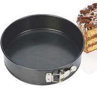 Форма для выпечки пирога Tescoma, раскладная. Диаметр 18 см623250Форма для выпечки Tescoma будет отличным выбором для всех любителей домашней выпечки. Особое высокотехнологичное антипригарное покрытие препятствует пригоранию и обеспечивает легкую очистку после использования. Форма легко разбирается при помощи специального механизма, что облегчает приготовление выпечки. Имеется петля, за которую изделие легко подвесить в удобном месте. С такой формой Вы всегда сможете порадовать своих близких оригинальной выпечкой. Характеристики: Материал: металл с анипригарным покрытием. Диаметр: 18 см. Производитель: Чехия. Артикул: 623250.