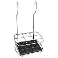 Подставка для столовых приборов Lonardo навесная35.03.24Удобная настенная подставка для столовых приборов Lonardo выполнена из нержавеющей стали. Она состоит из девяти отделений. Дно выполнено из пластика. Подставка крепится к стене на 2 петли. Такая подставка отлично подойдет к интерьеру Вашей кухни.
