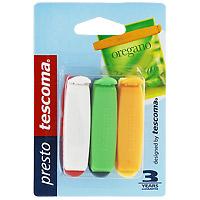 Набор зажимов для пакетов Tescoma, 6 шт. 420750420750Зажим для пакетов Tescoma выполнен из прочной пластмассы. С этим замечательным приспособлением вы дольше сохраните свежесть продуктов, которые хранятся в пакетах. Кроме того, вы можете не пересыпать содержимое из пакетов в емкости для сыпучих продуктов, просто закройте пакет зажимом. Можно использовать в морозильнике и мыть в посудомоечной машине.