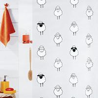 Штора Lana black, 180х2001008193Штора для ванной комнаты Lana black с изображением забавных овец изготовлена из полиэтиленвинилацетата. В верхней кромке шторы сделаны отверстия для колец. Штору можно стирать только руками. Шторы от компании Spirella отличает яркий, красочный дизайн рисунков и высокое качество (гарантия на изделие 3 года). Сделайте вашу ванную комнату еще красивее!