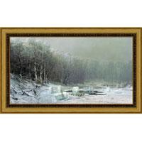 """Арт-постер в багете """"Зима. Ледокол"""" (А.И. Мещерский), 24 x 40 см"""