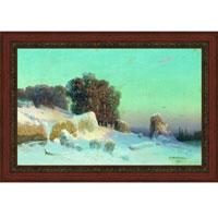 Арт-постер в багете Зимний пейзаж (А. И. Мещерский), 27 x 40 см