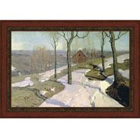 Последний снег (Вильгельм Пурвит), с темной рамкой, 28 x 40 см28x40 OZ216-50404Художественная репродукция картины Вильгельма Пурвит Последний снег Размер постера: 28 см x 40 см. Артикул: 28x40 OZ216-50404.