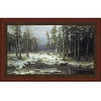 Первый снег (И.И. Шишкин), с темной рамкой, 25 x 40 см25x40 OZ230-50404Художественная репродукция картины И.И. Шишкина Первый снег Размер постера: 25 см x 40 см. Артикул: 25x40 OZ230-504011.