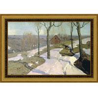 Последний снег (Вильгельм Пурвит), со светлой рамкой, 28 x 40 см28x40 OZ115-504011Художественная репродукция картины Вильгельма Пурвит Последний снег Размер постера: 28 см x 40 см. Артикул: 28x40 OZ216-50404.