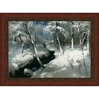 Ручей в лесу (А. Шильдер), с темной рамкой, 29 x 40 см29x40 OZ227-50404Художественная репродукция картины А. Шильдера Ручей в лесу. Размер постера: 29 см x 40 см. Артикул: 29x40 OZ227-50404.