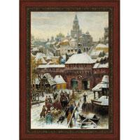 Арт-постер в багете Москва. Конец XVII века (А. М. Васнецов), 28 x 40 см