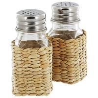 Набор Premier Housewares: солонка и перечница1403156Набор Premier Housewares, состоящий из солонки и перечницы, изготовлен из стекла и натурального ротанга. Солонка и перечница легки в использовании: стоит только перевернуть емкости, и вы с легкостью сможете поперчить или добавить соль по вкусу в любое блюдо. Оригинальный дизайн, эстетичность и функциональность набора позволят ему стать достойным дополнением к кухонному инвентарю.