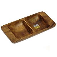 Менажница Monkey Pod, 30 х 15 см1104603Представляем вашему вниманию менажницу Monkey Pod, выполненную из дерева. Некоторые блюда можно подавать только в менажнице, чтобы не произошло смешение вкусовых оттенков гарниров. Также менажница может быть использована в качестве посуды для нескольких видов салатов или закусок. Оригинальный дизайн менажницы идеально впишется в интерьер вашей кухни или будет достойным подарком для родных и друзей. Характеристики: Материал: дерево. Размер: 30 см х 15 см х 4 см. Размер отделений: 14 см х 11 см. Артикул: 1104603. Производитель: Великобритания.
