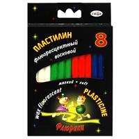 """Гамма Пластилин восковой """"Флюрики"""", 8 цветов"""
