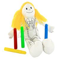 Игрушка-раскраска Девочка4608332013Игрушка-раскраска Девочка симпатичная и мягкая, ребенок будет с удовольствием ее раскрашивать, а потом и играть с ней. Игрушка развивает мелкую моторику, цветовое восприятие и творческие способности.