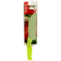 Нож кухонный Atlantis 13см 5T-G5T-GКухонный нож Atlantis всегда должен быть под рукой. Он подойдет для нарезки любых овощей, мяса, рыбы и других продуктов. Нож обработан специальным покрытием Microban. Покрытие Microban - самое надежное в мире средство для защиты от бактерий, грибков, плесени и запахов. Действует постоянно, даже после мытья, обеспечивая большую защиту ножа. Антибактериальная защита работает на протяжении всего срока службы ножа. Особенности ножа Atlantis: японская высокоуглеродистая нержавеющая сталь прочный и острый клинок безопасное и прочное покрытие лезвия, не дающее пище прилипать к ножу красивое сочетание цветов ручки и лезвия.