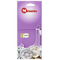 Подставка для тарелок Metaltex 9-18 см.29.91.10Удобная настольная подставка Metaltex для декоративных тарелок выполнена из пластмассы. Подставку можно регулировать под необходимый размер тарелки (от 9 см до 18 см). Такая подставка поможет оригинально украсить интерьер вашей кухни. Характеристики: Материал: пластмасса. Высота подставки: 11 см. Производитель: Италия. Артикул: 29.91.10.