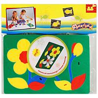 Мягкая мозаика с объемными деталями Цветочки45553Мягкая мозаика Цветочки представляет собой изображение трех цветков. Один из цветков оформлен объемными лепестками. Мозаика изготовлена из мягкого, прочного материала, благодаря его особой структуре и свойству прилипать к мокрой поверхности, такая мозаика является идеальной игрушкой для ванны. Мягкая мозаика развивает у ребенка память, воображение, моторику, пространственное и логическое мышление. Обучение происходит прямо во время игры!