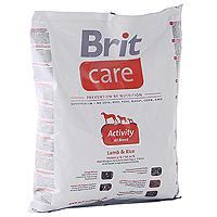 Корм сухой Brit Care для активных собак всех пород, с ягненком и рисом, 1 кг100503Сбалансированный, хорошо усвояемый, высококачественный корм Brit Care, для собак с высокой активностью и высокими энергетическими затратами. Благодаря специальным добавкам, корм Brit Care: Имеет высокое содержание протеинов. Оптимальное соотношение аминокислот (идеальный протеин) обеспечивает высокую усвояемость белков для мышечной ткани; Имеет фактор, замедляющий старение - защита от свободных радикалов. Высокое содержание витамина Е и органического селена обеспечивают защитный комплекс антиокислителей; Высокое содержание протеинов и жиров. Обеспечивает достаточное количество энергии при высоких энергетических затратах; Поддерживает иммунитет и охрану здоровья. MOS (маннаноолигосахариды) поддерживают хорошее состояние пищеварительного тракта и уменьшают количество патогенной микрофлоры в кишечнике; Поддерживает кишечную микрофлору. FOS (фруктоолигосахариды) оказывают благоприятное влияние на кишечную микрофлору и...