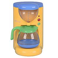 Кофеварка Villa VanillaPlay 3150Детская электрическая кофеварка Villa Vanilla, выполненная из пластика, непременно понравится Вашему ребенку и займет достойное место на детской кухне. Открыв крышку, в кофеварку можно налить воду, а нажав на зеленую кнопочку, вода через специальное отверстие попадет в кувшин под кофе. Во включенном состоянии кофеварка имитирует приготовление кофе, и на ней горит лампочка. Теперь Ваша маленькая хозяйка может угостить своих любимых кукол самым вкусным кофе!