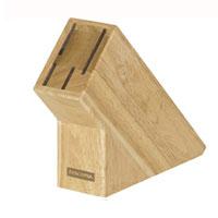 Подставка для ножей Tescoma деревянная, цвет: светло-коричневый869504Подставка Tescoma, выполненная из первоклассной древесины бразильского каучука, предназначена для 4 ножей и займет достойное место на вашей кухне, добавив интерьеру оригинальности и изысканности. Она поможет вам в удобном и безопасном хранении ножей. Подставка очень устойчива и не упадет, когда вы будете вынимать из нее ножи. Дно изделия оснащено силиконовыми накладками для предотвращения скольжения по поверхности стола. Благодаря такой подставке кухонные ножи всегда будут у вас под рукой.