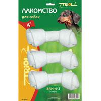 Лакомство для собак Triol Белая узловая кость, 3 шт. BRH-4-3Дл-52200Triol Белая узловая кость для собак из жил является не только лакомством. Она также прекрасно очищает зубы и межзубное пространство, освежает дыхание. При ежедневном применении предупреждает образование зубного налета. Такая косточка будет аппетитным лакомством и занимательной игрушкой для вашего любимца. В наборе три косточки размером: 10 см х 4 см х 2 см. Разработано совместно с ветеринарами. Товар сертифицирован.
