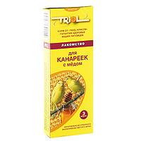Лакомство для канареек Triol, с медом, 3 штКф-15500Медовое лакомство Triol специально составлено из самых вкусных и необходимых компонентов, содержит много волокон, что положительно влияет на пищеварение и здоровье вашего питомца. Лакомство порадует канарейку и разнообразит ее ежедневный рацион. Состав: просо белое, просо красное, семя конопли, канареечное семя, рапс, лен, мед, луговые травы, йод в легко усвояемой форме, витамины А, В, D, PP. Товар сертифицирован.