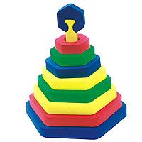 Бомик Мягкий конструктор Шестиугольник322Мягкий объемный конструктор-пирамидка Шестиугольник привлечет внимание малыша и не позволит ему скучать. Элементы конструктора выполнены из мягкого, эластичного, прочного материала, который обеспечивает большую долговечность и является абсолютно безопасным для детей. Учиться играя намного проще и интереснее, с яркой разноцветной пирамидкой ваш малыш без труда выучит основные цвета и формы. Мягкий конструктор разовьет у ребенка память, воображение, моторику, пространственное и логическое мышление. Порадуйте его таким замечательным подарком!