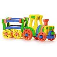 Бомик Мягкий конструктор Трактор с тележкой361_1Мягкий объемный конструктор Трактор с тележкой привлечет внимание малыша и не позволит ему скучать. Элементы конструктора выполнены из мягкого, эластичного, прочного материала, который обеспечивает большую долговечность и является абсолютно безопасным для детей. Мягкий конструктор разовьет у ребенка память, воображение, моторику, пространственное и логическое мышление. Порадуйте его таким замечательным подарком!