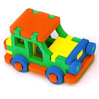 Бомик Мягкий конструктор Джип358Мягкий объемный конструктор Джип привлечет внимание малыша и не позволит ему скучать. Элементы конструктора выполнены из мягкого, эластичного, прочного материала, который обеспечивает большую долговечность и является абсолютно безопасным для детей. Мягкий конструктор разовьет у ребенка память, воображение, моторику, пространственное и логическое мышление. Порадуйте его таким замечательным подарком!