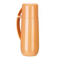 Термос с кружкой Family, цвет: оранжевый, 0,75 л. 310566310566Термос Family предназначен для хранения и переноски теплых и холодных напитков. Термос изготовлен из прочного пластика и снабжен стеклянной изоляционной колбой. Термос имеет удобную ручку и завинчивающуюся крышку, которая может выполнять функцию кружки с ручкой. Высота (с кружкой): 29 см.