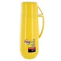 Термос Tescoma Family, с кружкой, цвет: желтый, 1 л310568Термос Tescoma Family предназначен для хранения и переноски теплых и холодных напитков. Термос изготовлен из прочного пластика и снабжен стеклянной изоляционной колбой. Термос имеет удобную ручку и завинчивающуюся крышку, которая может выполнять функцию кружки. Высота термоса (с учетом крышки): 32 см. Диаметр термоса (по верхнему краю): 5,5 см. Диаметр кружки: 9,5 см. Высота кружки: 7,5 см.