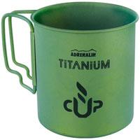 Кружка походная Adrenalin Titanium, цвет: зеленый, 450 мл20348Походная кружка Adrenalin Titanium, изготовленная из титана, одна из самых легких кружек из уже существующих. Благодаря своему легкому весу и складным ненагревающимся ручкам, кружка идеально подойдет для походов и туристических путешествий. Adrenalin - целый мир товаров, которые делают вашу жизнь комфортнее и интереснее. Даже если вы находитесь вне зоны привычных удобств: за городом, на даче, в походе, на рыбалке, на работе и в командировке. Диаметр кружки: 8 см. Высота кружки: 8,5 см.
