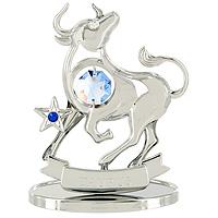 Сувенир Знаки зодиака: Телец, цвет: серебристый, 8 смU0258-001-CBLBДекоративное изделие, выполненное в виде знака зодиака Телец, с голубым кристаллом Swarovski посередине, а также маленькими синим и бесцветным кристаллами, изготовлено из высококачественной стали. Оригинальный сувенир будет отличным подарком для ваших друзей и коллег. Более 30 лет компания Crystocraft создает качественные, красивые и изящные сувениры, декорированные различными кристаллами Swarovski.