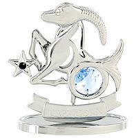 Сувенир Знаки зодиака: Козерог, цвет: серебристый, 7,5 смU0266-001-CBLBДекоративное изделие, выполненное в виде знака зодиака Козерог, с голубым кристаллом Swarovski посередине, а также с черным и бесцветным кристаллами, изготовлено из высококачественной стали. Оригинальный сувенир будет отличным подарком для ваших друзей и коллег. Более 30 лет компания Crystocraft создает качественные, красивые и изящные сувениры, декорированные различными кристаллами Swarovski. Характеристики: Материал: сталь, кристаллы Swarovski. Высота: 7,5 см. Размер упаковки: 9,5 см х 11 см х 4,5 см. Артикул: U0266-001-CBLB. Производитель: Китай.