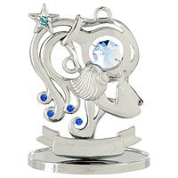 Сувенир Знаки зодиака: Водолей, цвет: серебристый, 8,5 смU0267-001-CBLBДекоративное изделие, выполненное в виде знака зодиака Водолей, с голубым кристаллом Swarovski посередине, а также кристаллами синего и светло-голубого цветов, изготовлено из высококачественной стали. Оригинальный сувенир будет отличным подарком для ваших друзей и коллег. Более 30 лет компания Crystocraft создает качественные, красивые и изящные сувениры, декорированные различными кристаллами Swarovski. Характеристики: Материал: сталь, кристаллы Swarovski. Высота: 8,5 см. Размер упаковки: 9,5 см х 11 см х 4,5 см. Артикул: U0267-001-CBLB. Производитель: Китай.