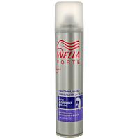 Лак для длинных волос Wella Forte, максимальная фиксация, 250 млWF-81155207Лак для волос Wella Forte максимальной фиксации придает длительную фиксацию в течение дня. Идеально подходит для длинных волос. Обеспечивает контроль над непослушными волосами и придает блеск. Помогает защитить волосы от действия УФ-лучей.