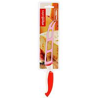 Нож для сыра Atlantis 13см L-5Z-RL-5Z-RНож для сыра Atlantis превосходно подходит для нарезки твердых и мягких сыров, также на конце лезвия имеется вилка - для сервировки сыра. Особенности ножа Atlantis: японская высокоуглеродистая нержавеющая сталь прочный и острый клинок эргономический дизайн ручки безопасное и прочное покрытие лезвия, не дающее пище прилипать к ножу красивое сочетание цветов ручки и лезвия.