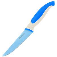 Нож кухонный Atlantis 10см L-5K-BL-5K-BНож кухонный Atlantis высшего качества предназначен для профессионального и домашнего использования, для нарезки продуктов. Также нож идеально подойдет для нарезки хлеба. Очень удобная и эргономичная ручка не позволит выскользнуть ножу из вашей руки. Особенности ножа Atlantis: японская высокоуглеродистая нержавеющая сталь прочный и острый клинок безопасное и прочное покрытие лезвия не дающее пище прилипать к ножу красивое сочетание цветов ручки и лезвия.