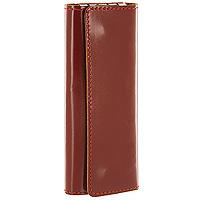 Ключница Befler, цвет: светло-коричневый. KL.11-1KL.11.-1.cognacКомпактная ключница Befler - стильная вещь для хранения ключей. Ключница, закрывающаяся на две кнопки, выполнена из натуральной кожи высокого качества. Внутри располагаются 4 крепления для ключей.