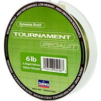 """Леска плетеная Daiwa """"Tournament Specialist"""", толщина: 6lb, длина: 150 м, цвет: темно-зеленый"""