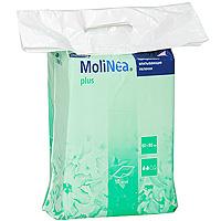Одноразовые впитывающие пеленки Molinea (Молинеа) Plus, 60 см х 90 см, 10 шт01.00.33.163903Одноразовые впитывающие пеленки MoliNea Plus предназначены для дополнительной защиты постельного белья и других поверхностей, при проведении гигиенических и диагностических процедур. Верхний слой пеленок изготовлен из гипоаллергенного нетканого материала, внутренний - из распушенной целлюлозы, отбеленной без хлора, которая равномерно впитывает и распределяет жидкость. Внешний слой пеленок выполнен из водонепроницаемой нескользящей эластичной пленки, обеспечивающей высокую прочность на разрыв, а запатентованная структура ее поверхности (прессованные дорожки) способствует равномерному распределению жидкости. Края пеленок завернуты внутрь для дополнительной защиты от протекания и обеспечивают надежное охватывание целлюлозы.