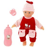 Simba Пупс Hello Kitty с бутылочкой5012768Пупс Hello Kitty с закрывающимися глазками порадует Вашу малышку и доставит ей много удовольствия от часов, посвященных игре с ним. Пупс одет в симпатичный красный костюмчик с рисунком Hello Kitty, а на его голове - шапочка с бантиком. Голова, ручки и ножки пупса поворачиваются, что сделает игру с ним еще реалистичнее и интереснее. В комплект с пупсом входят бутылочка и соска. Порадуйте свою малышку таким великолепным подарком. Характеристики: Высота пупса: 30 см. Размер бутылочки: 9 см х 3 см. Размер упаковки: 32 см х 22 см х 10 см. Материал: текстиль, пластик, резина. Изготовитель: Китай.