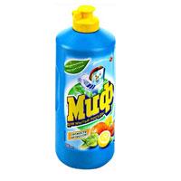 Средство для мытья посуды Миф, с ароматом цитрусовых, 500 млMD-81557053Средство для мытья посуды Миф содержит натуральные экстракты грейпфрута и мандарина. Имеет освежающий аромат. Для мытья необходимо небольшое количество средства. Особенности средства для мытья посуды Миф: легко смывается водой, не оставляя разводов на посуде посуда становиться чистой до приятного скрипа.